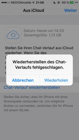 Wiederherstellen neues chats handy whatsapp Wie kann