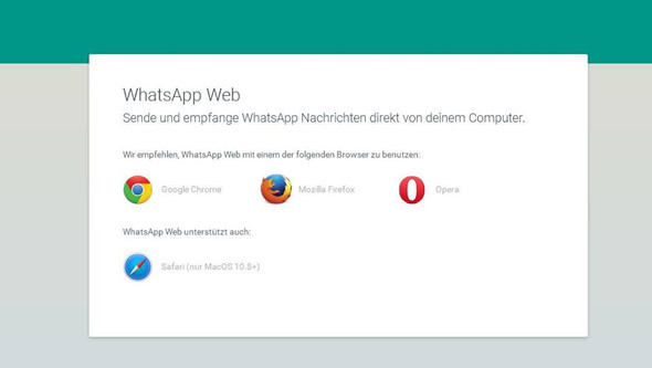 Bildschirmanzeige - (WhatsApp, Browser, web-app)