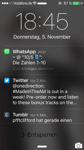 Screenshot der potenziellen Nachricht - (Handy, WhatsApp)