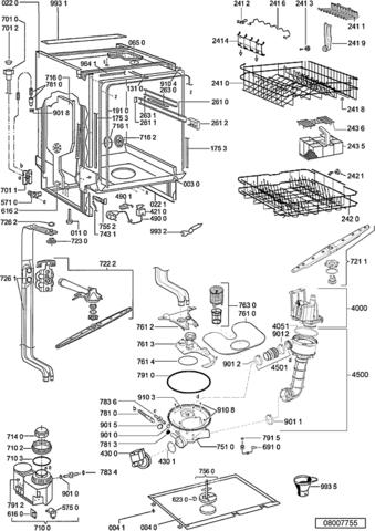 Explosionszeichnung Des Kundencenters   (Heizung, Spuelmaschine, Heizen)