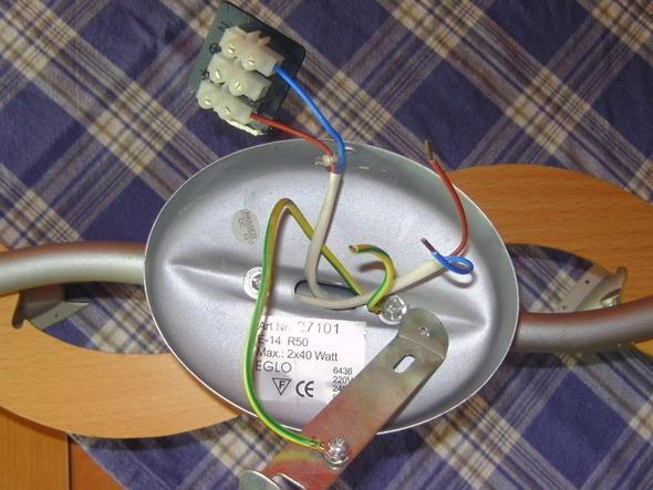 Wie 5 adrige Deckenlampe richtig anschließen (Strom, Anschluss)