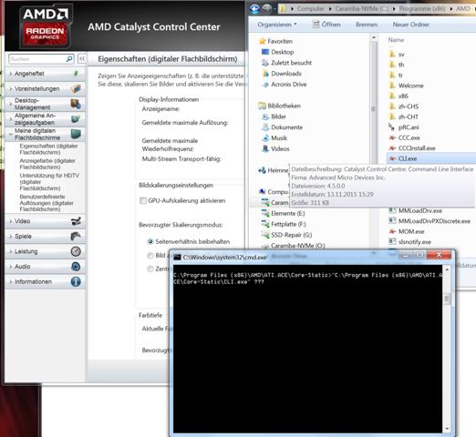 Wie ändere ich AMD Graka-Einstellungen per command-line?