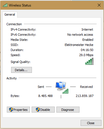 Screenshot - (WLAN, Windows 10)
