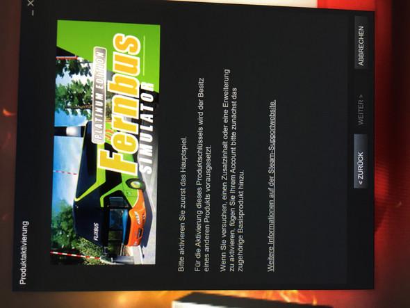 Wie aktiviert man das hauptspiel von Fernbus Platinum Edition?
