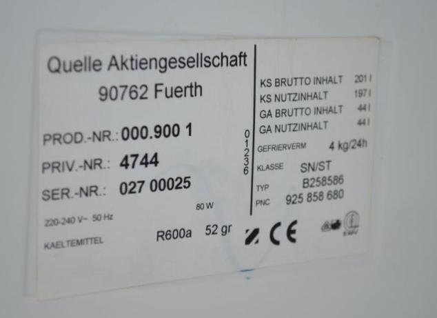 Bosch Kühlschrank Baujahr Herausfinden : Wie alt ist dieser privileg kühlschrank? elektronik