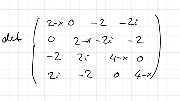 Wie am schlausten Determinante von Matrix bestimmen?