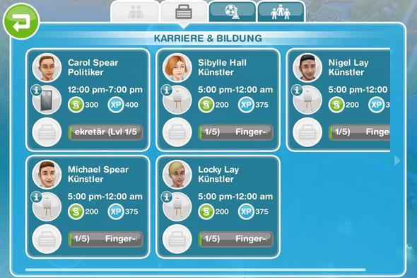da steht es dasss sie arbeiten aber die gehen nie zur arbeit - (Sims, Freispiel)