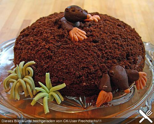 so ungefähr soll der Kuchen aussehen - (Geschenk, basteln, Maulwurf)