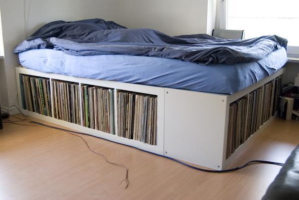Regalbett - (Bett, IKEA, DIY)