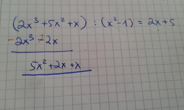 Wie beende ich diese Polynomdivision? (Schule, Mathematik, Algebra)