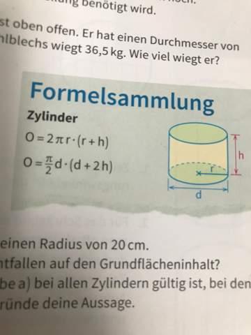Wie begründet man eine dieser Formeln?