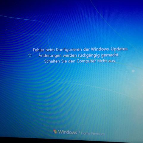 Dies ist die Meldung.   - (Windows, Fehler, Update)