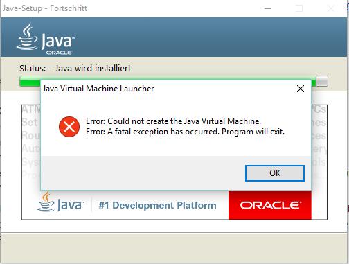 Java Virtual Machine Error Minecraft Windows 10 - The Best Machine