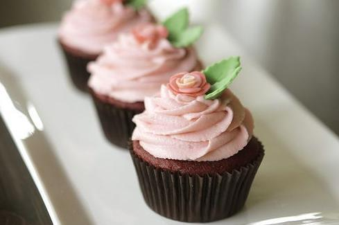 Rosa Cupcake - (backen, Muffins, cupcakes)