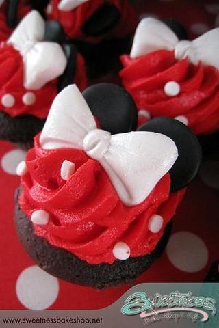 Minnie Mouse Cupcake - (backen, Muffins, cupcakes)