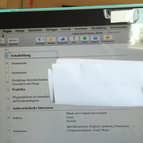 Wie Bekomme Ich Bei Pages Diese Linien Hin Apple Bewerbung Word