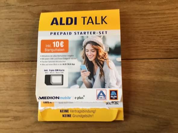 Wie bekomme ich beim Aldi Talk Prepaid Starter-Set mein Guthaben?