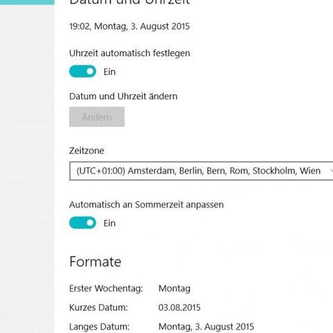 (Quelle Chip support) hier sieht man einen Knopf darunter - (Windows 10, Einstellungen, Datum und Uhrzeit)