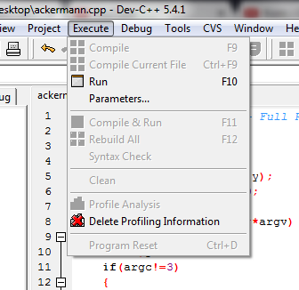 Compile Ausgegrautt - (Software, programmieren, dev-c)