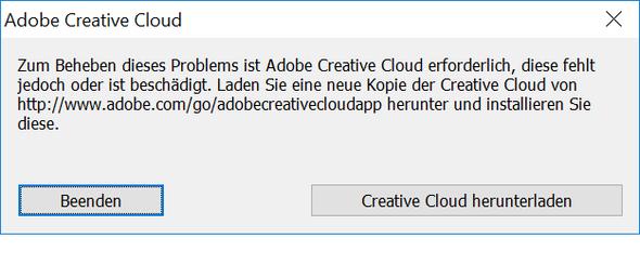 Creative Cloud Pop up - (PC, Adobe, Adobe Creative Cloud)