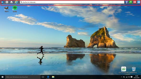 rot makiert - (Windows 10, Taskleiste)