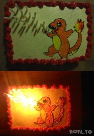 Glumanda-Kuchen - (Pokemon, backen, Kuchen)