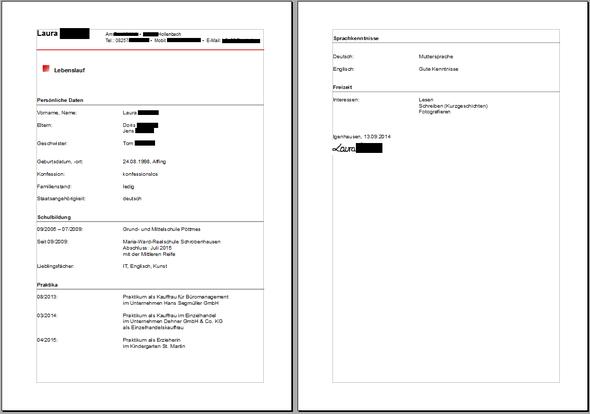 Lebenslauf - (Bewerbung, Lebenslauf, OpenOffice)