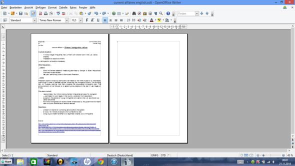 Mein Textdokument - (OpenOffice)