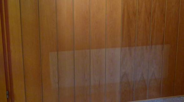wie bekomme ich helle stellen an der holzvert felung wieder weg haus renovierung. Black Bedroom Furniture Sets. Home Design Ideas