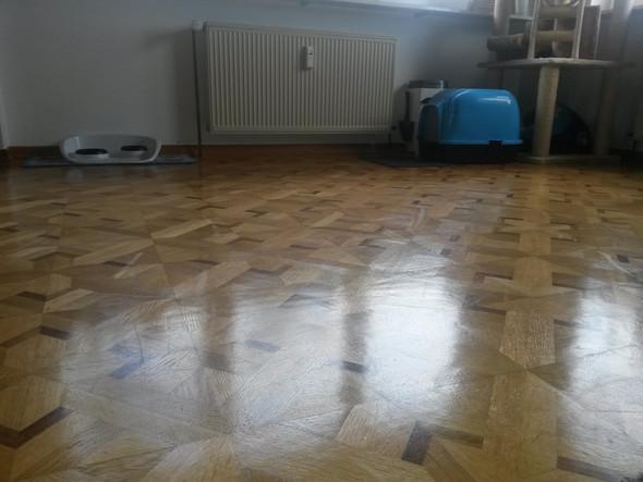 Bild vom Boden - (Boden, Streifen, Parkett)