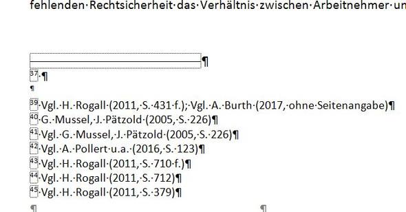 Leere Zeile in Fußnoten - (Word, Word 2007, MS-Office)