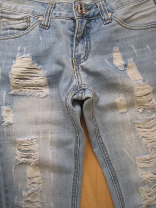 Wie Bekommt Man Bei Einer Jeans Solche Löcher Hin Hose Nähen