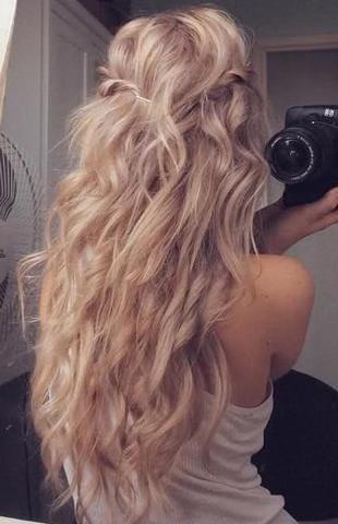 Haare geflochten trocknen lassen