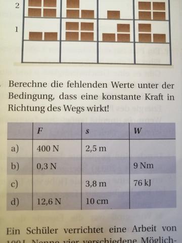 Wie Berechne Ich Arbeit Physik Schule Mathe Hausaufgaben