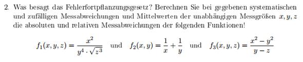 Fragestellung - (Studium, Physik, Universität)