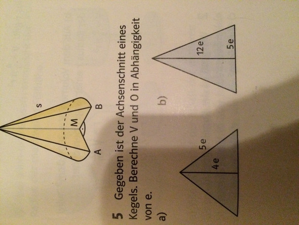 Das ist die Aufgabe  - (Mathe, Volumen, oberfläche)
