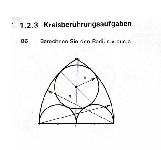 wie berechne ich den radius x aus a mathe geometrie. Black Bedroom Furniture Sets. Home Design Ideas