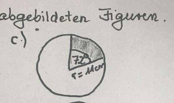 Wie berechne ich den Umfang dieses Kreissektors?