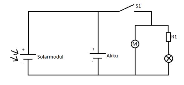Schaltplan Solarauto  - (Technik, Elektronik, Strom)