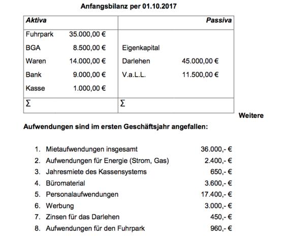 Bilanz - (BWL, Deckungsbeitrag)