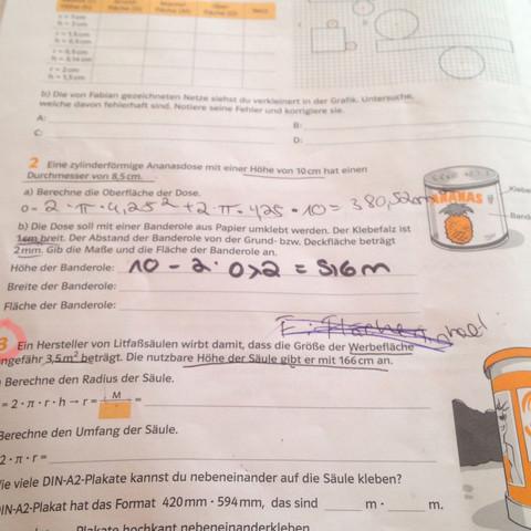 Nummer 2  - (Mathematik, Zylinder)
