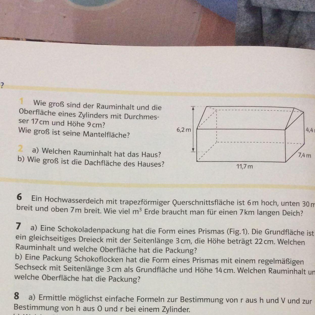 wie berechne ich die dachfläche dieses prismas? (Schule, Mathe)