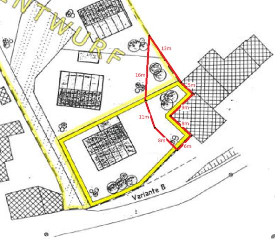 Hier die Skizze vom Grundstück - (Software, Mathematik, Geometrie)
