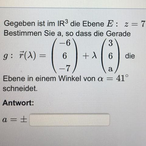 Aufgabe  - (Mathematik, Analytische Geometrie, Vektorrechnung)