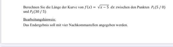 Wie berechne ich die Längen einer Kurve?