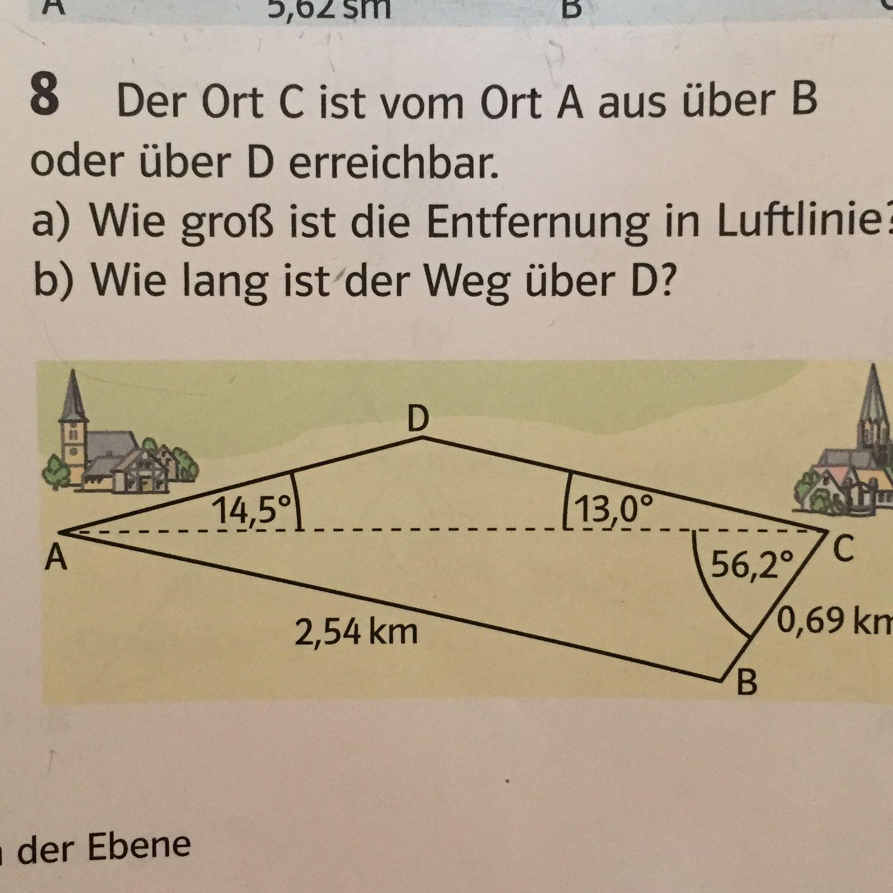 Entfernung Berechnen Luftlinie : wie berechne ich die luftlinie das mit sinus cosinus tangens verstehe ich aber die luftlinie ~ Themetempest.com Abrechnung