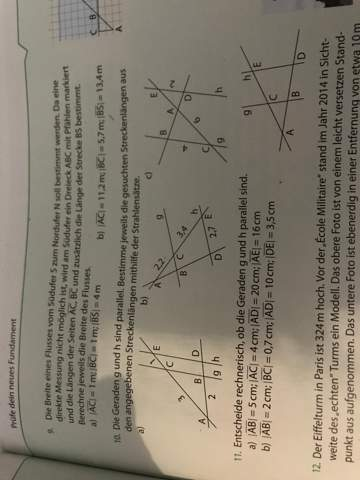 Wie berechne ich die Streckenlängen, Strahlensätze?