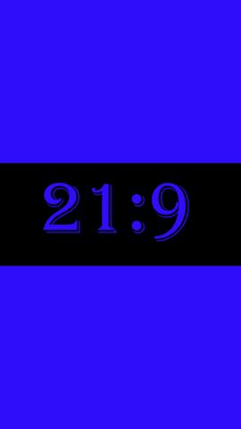 Blau= 16:9, Schwarz=21:9 - (Mathematik, Rechnen, Flächen)