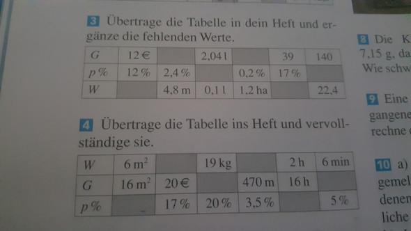 - (Mathematik, Tabelle, prozentrechnen)