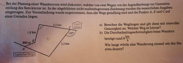 Wie berechne ich diese Weglängen??